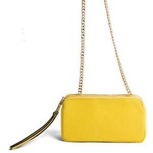 STEVE MADDEN Yellow summer CROSS BODY BAG PURSE